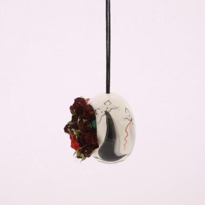 Virágtartó felfüggesztős cicás