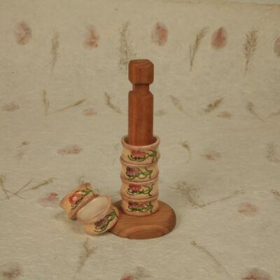 Szalvétagyűrű rúdon pipacsos