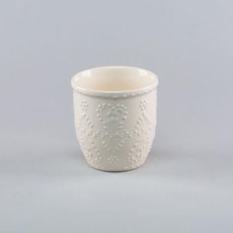 Fogmosó pohár fehér írókás