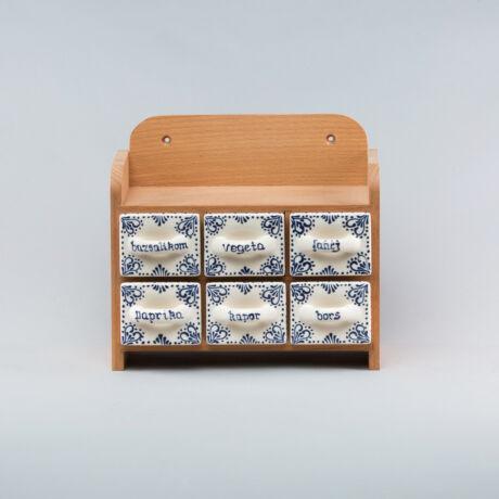Fűszertartó - 6 fiókos,kétsoros,irókás