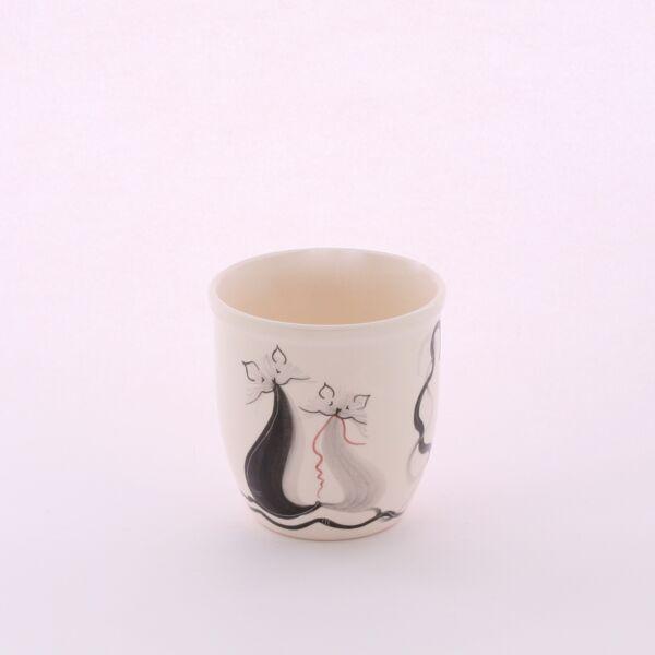 Fogmosó pohár cicás
