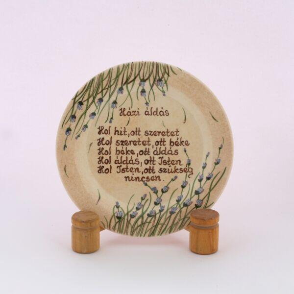 Házi áldás tányér levendulás