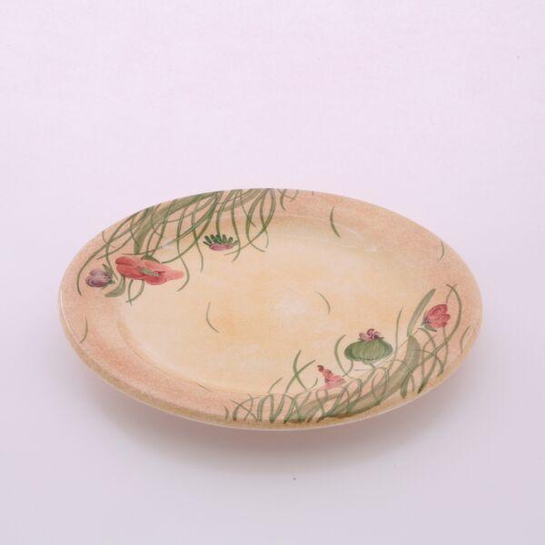Desszert tányér pipacsos