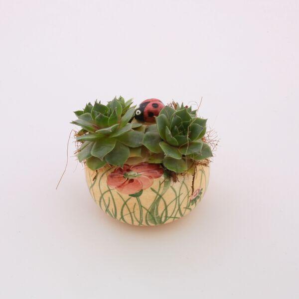 Virágtartó asztali pipacsos